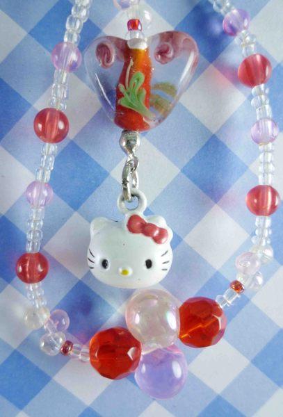 【震撼精品百貨】Hello Kitty 凱蒂貓~KITTY手機提帶-鈴鐺-粉紅珠