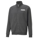 Puma Metallic 男款 灰色 外套 立領外套 棉質 側邊邊條 運動 休閒 外套 58713807