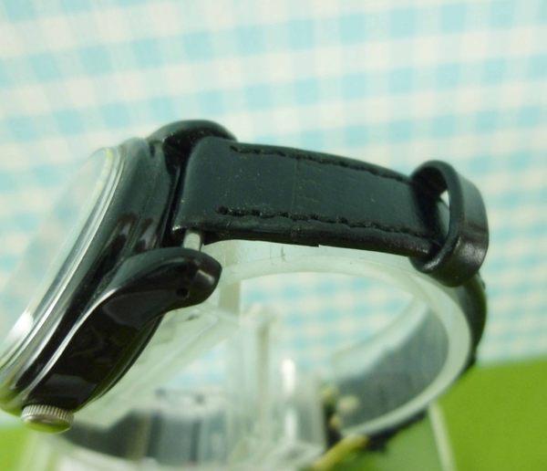 【震撼精品百貨】米奇/米妮_Micky Mouse~手錶-米奇大頭隨指針旋轉-黑色