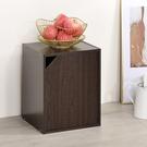 書櫃 收納 堆疊 置物櫃【收納屋】簡約加高單門櫃-胡桃木色& DIY組合傢俱