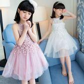 女童夏裝連身裙2018新款3韓版5中大童6小女孩7時尚8公主裙子12歲 至簡元素