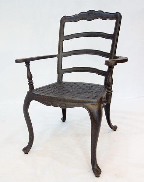 【南洋風休閒傢俱】戶外休閒桌系列-法蘭西扶手椅  戶外休閒鋁餐椅  適餐廳 咖啡廳 (#354C)