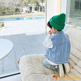 兒童馬甲春秋男童馬夾潮款寶寶外穿中小童洋氣純棉牛仔韓版【小獅子】