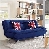 【水晶晶家具/傢俱首選】JM1737-1 亞倫120cm英倫風加厚滌綸絨布沙發床