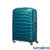 Samsonite 新秀麗 28吋LITE-SHOCK 極輕CURV 四輪拉桿頂級硬殼箱(孔雀藍)