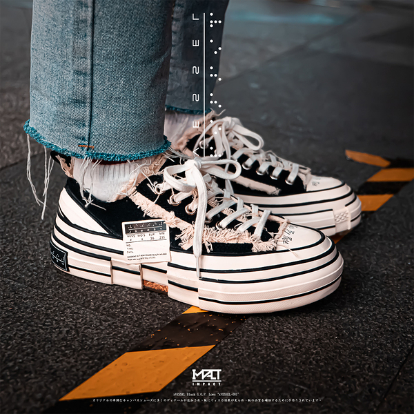 IMPACT xVESSEL G.O.P. Lows Black 解構帆布鞋 低筒 黑白 吳建豪 xVESSEL-001