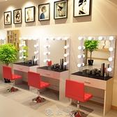 化妝桌 工作室影樓化妝臺帶燈專用專業店鋪用美容院學校彩妝婚紗店梳妝臺 現貨快出