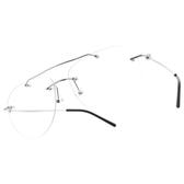 CARIN 光學眼鏡 ALEXA C2 (銀-黑) 無框 氣質造型款 韓星秀智代言 飛行款 雙槓 # 金橘眼鏡