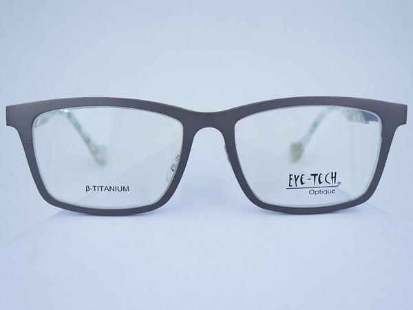 EYE TECH 169 鈦金屬 方框 眼鏡 日本製 可調整 鼻墊 膠鏡腳 雙色 設計款 適合 近視 遠視 多焦點 變色