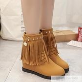 2020新款秋冬短靴流蘇韓版學生平底內增高女鞋單靴加絨棉鞋雪地靴 韓慕精品