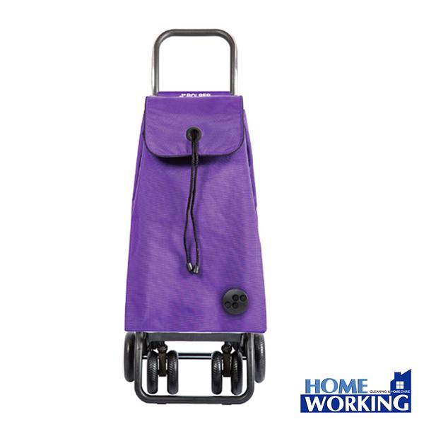 【HOME WORKING】ROLSER TOUR可變四輪時尚購物車(紫色)