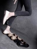 皮鞋女-單鞋女低跟2019新款春季韓版百搭小皮鞋英倫復古懶人鞋一腳蹬女鞋 超值價