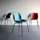 店長推薦北歐甲殼蟲椅家用靠背網紅餐椅鐵藝塑料ins風設計師椅休閒電腦椅