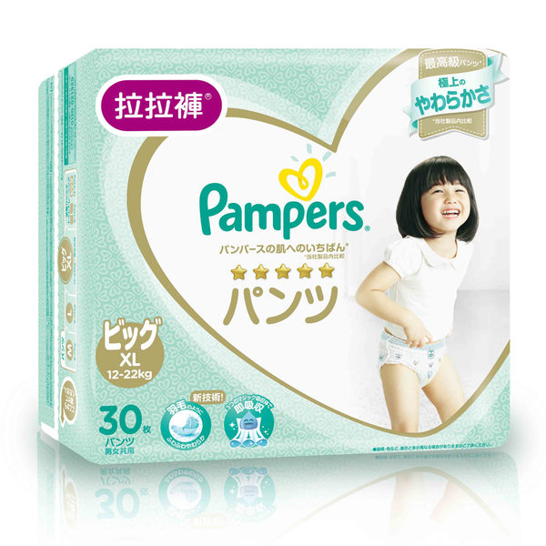 幫寶適-日本原裝進口 一級幫 拉拉褲/褲型紙尿褲 XL30片/包 大樹