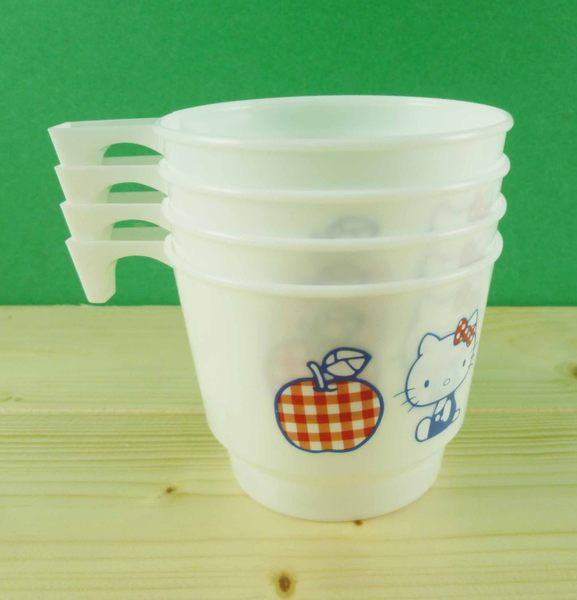 【震撼精品百貨】Hello Kitty 凱蒂貓~4入杯子~蘋果
