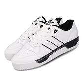 【六折特賣】adidas 休閒鞋 Rivalry Low 白 黑 男鞋 運動鞋 皮革 【ACS】 EE4657