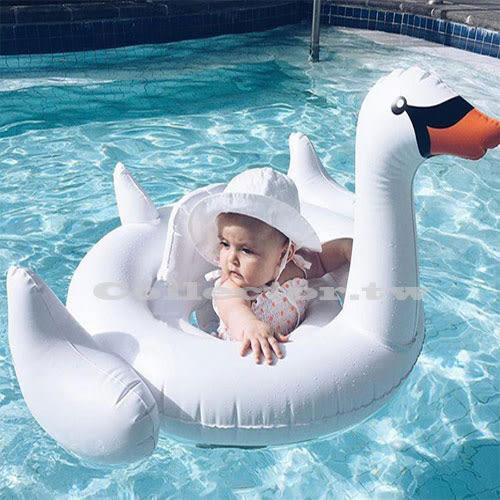 【11月萊這199免運】兒童泳圈-小白天鵝游泳圈 卡通造型泳圈 夏季泳圈救生圈