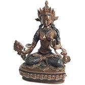 白度母 紅銅佛像高16公分【 十方佛教文物】