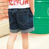 男童牛仔短褲寬鬆沙灘褲
