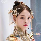 交換禮物-新娘中式紅色頭飾鳳冠套裝古裝流蘇秀禾 服婚禮結婚古風?飾