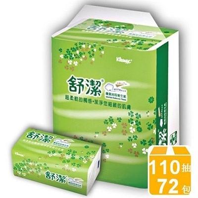 【舒潔】抽取式衛生紙-110抽*12入*6袋/箱
