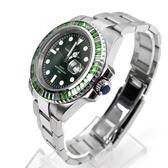 手錶 綠色鋯石鋼錶 范倫鐵諾.古柏NEV110