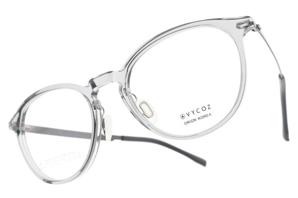 VYCOZ光學眼鏡 TOSS GRY (透灰-銀) 文藝小臉貓眼款 薄鋼眼鏡 # 金橘眼鏡