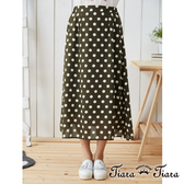 【Tiara Tiara】鬆緊腰斑點半身裙(綠)