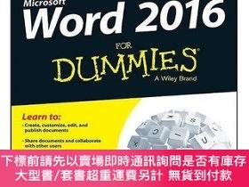 二手書博民逛書店Word罕見2016 For Dummies,英文原版Y449990 Dan Gookin 著 Wiley