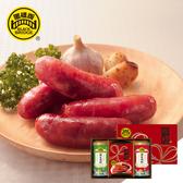 【黑橋牌】厚禮敦情禮盒A(原味香腸、肉酥罐、海苔肉酥罐)