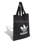 adidas 拖特包 Trefoil Shopper bag 黑 白 男女款 三葉草 購物袋 包包 【ACS】 DW5215