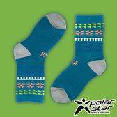 PolarStar 台灣製造 兒童保暖雪襪『藍綠』P16613 MIT|刷毛|舒適|保暖襪