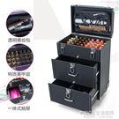 化妝箱 專業多層多功能大容量美睫美甲紋繡美發化妝師跟妝拉桿箱工具箱包 1995生活雜貨NMS