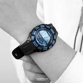 JAGA 運動休閒多功能電子錶 防水100米  型男必搭錶 柒彩年代【NEJ6】單支售價