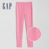 Gap女童 閃亮風格鬆緊緊身褲 384973-粉色