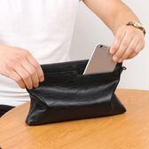 男士手包大容量信封包軟皮料手拿包商務手抓包時尚潮流男包