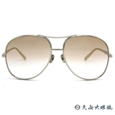 Chloe墨鏡 CE127S 722 (銀) 雙槓 飛官款 太陽眼鏡 久必大眼鏡