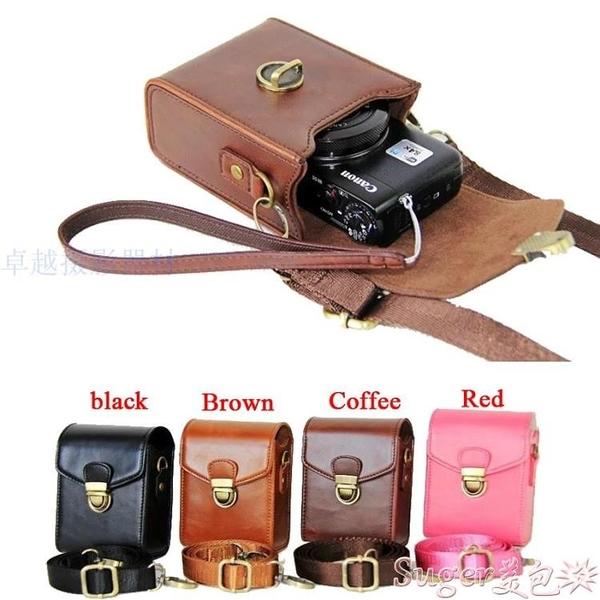 相機包適用佳能G7X3 G5X2索尼RX100M6黑卡7皮套鬆下LX10理光GR2/3相機包 熱賣 suger
