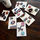胸針飛機胸針女正韓配飾可愛胸章奢華飾品大氣卡通胸花別針裝飾小徽章免運直出 交換禮物