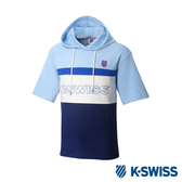 K-SWISS Hood T-Shirt短袖連帽上衣-男-淺藍