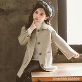 女童外套 女童雙面呢大衣新款秋冬洋氣大童秋裝兒童女呢子羊絨外套 瑪麗蘇