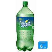 雪碧汽水寶特瓶2000ml*6【愛買】