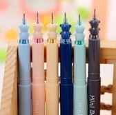 中性筆  可愛小熊頭中性黑色筆 共六款
