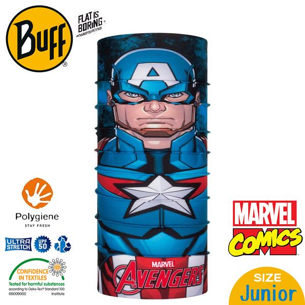 【BUFF 西班牙 青少年超級英雄 經典頭巾 Plus 美國隊長】121593/漫威/圍脖/帽子/口罩/圍巾/吸溼排汗