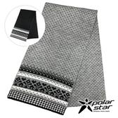 【POLARSTAR】保暖圍巾-波點『灰』P19606 休閒 戶外 冬季 保暖 禦寒 雪地 賞雪 登山 旅行 出國