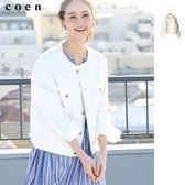 出清 無領單寧外套 牛仔夾克 USA美國棉 現貨 免運費 日本品牌【coen】