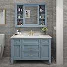 浴櫃美式實木浴室櫃組合衛浴輕奢北歐橡木落...