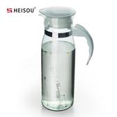 家用耐熱玻璃冷水壺透明果汁涼水茶壺 水杯杯子水瓶水具扎壺