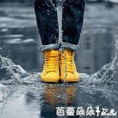雨靴雨靴 時尚女士雨鞋短筒雨靴女成人韓國低筒水鞋防滑套鞋學生膠鞋夏季潮【芭蕾朵朵】