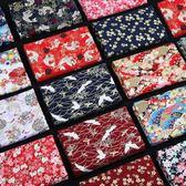 全館83折 布料日本和風布料 燙金棉布 日式花布純棉中國風漢服古風旗袍面料清倉